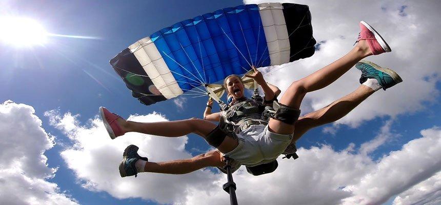 Прыжок с парашютом в Минске